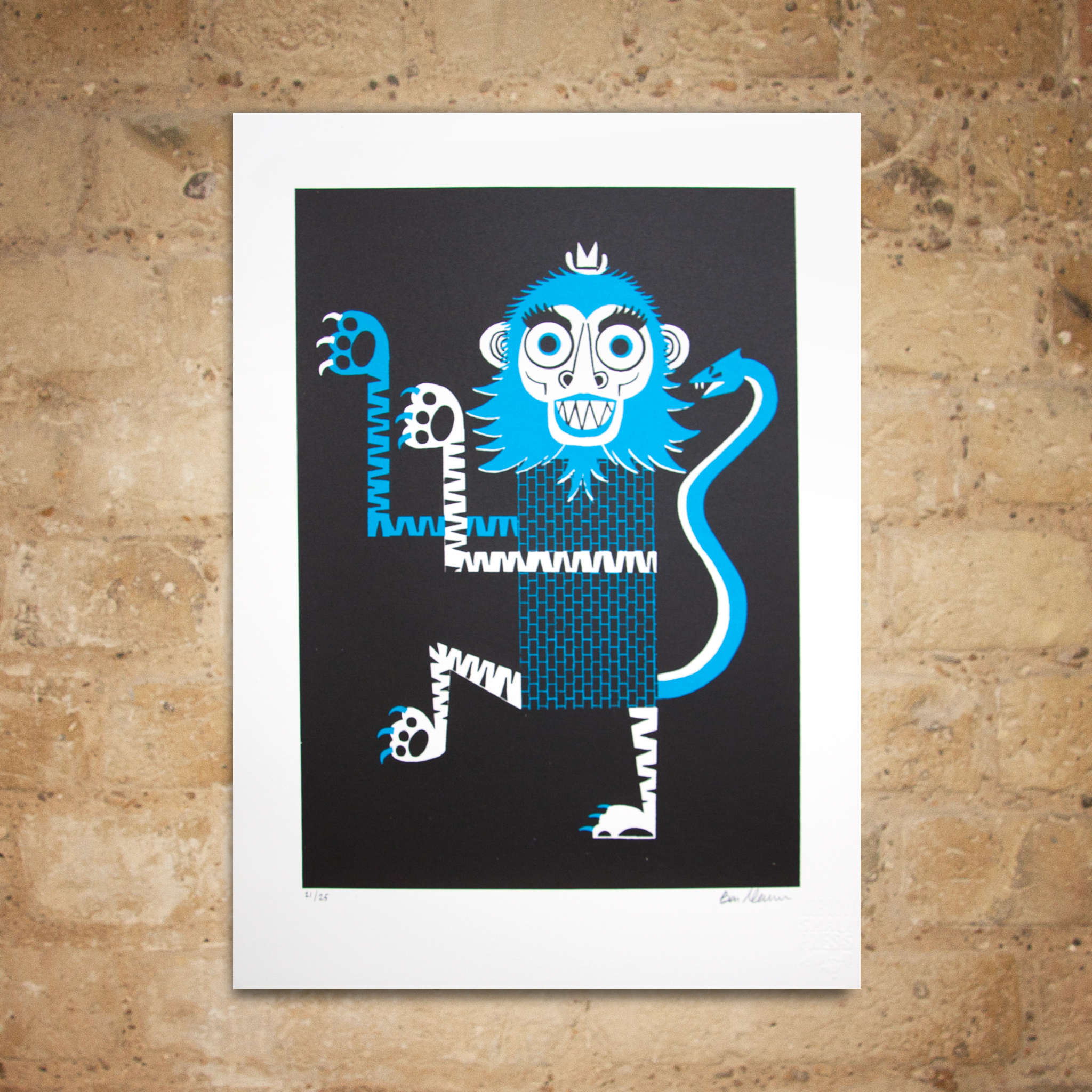 Ben Newman 'Monkey' Screenprint