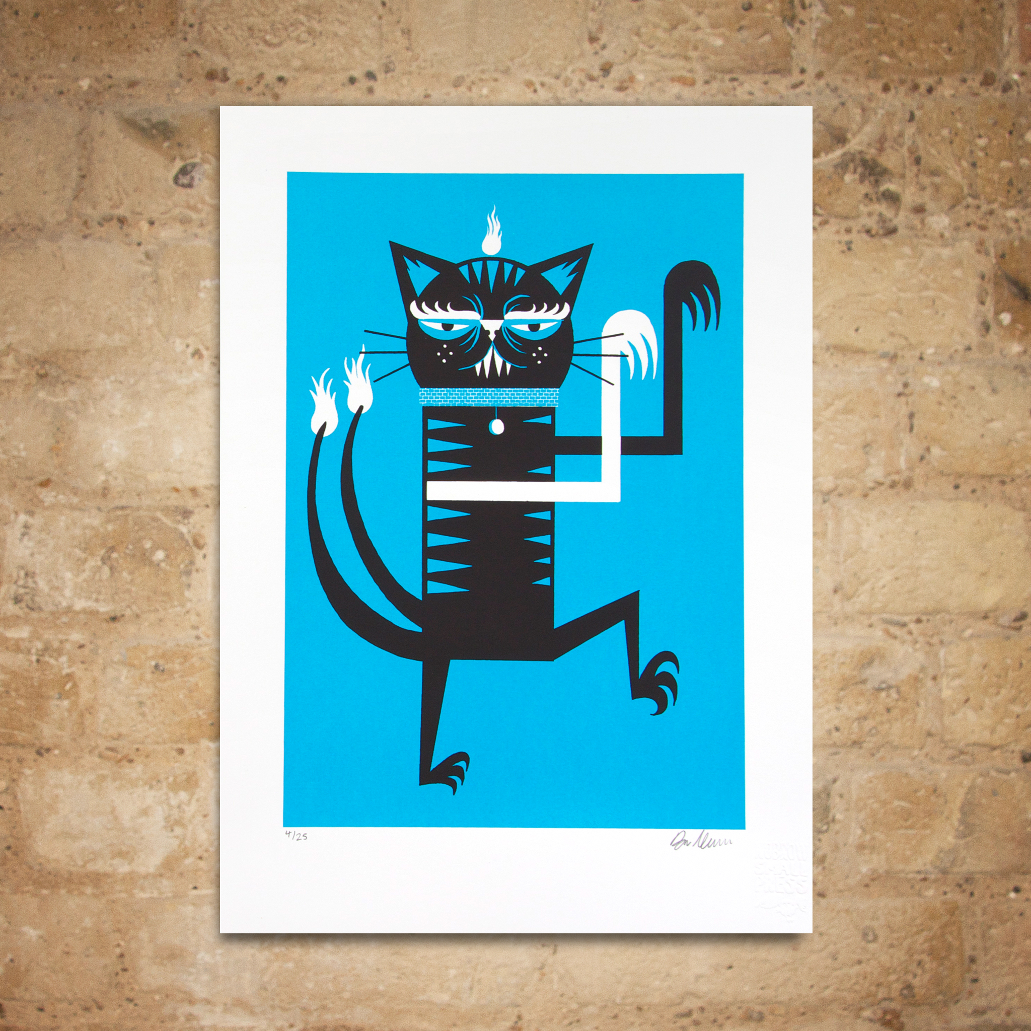 Ben Newman 'Cat' Screenprint