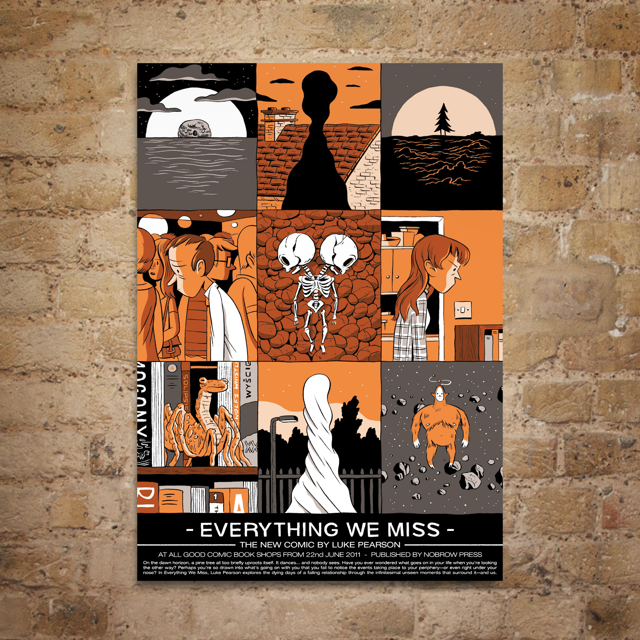 Everything We Miss Spot Litho Print