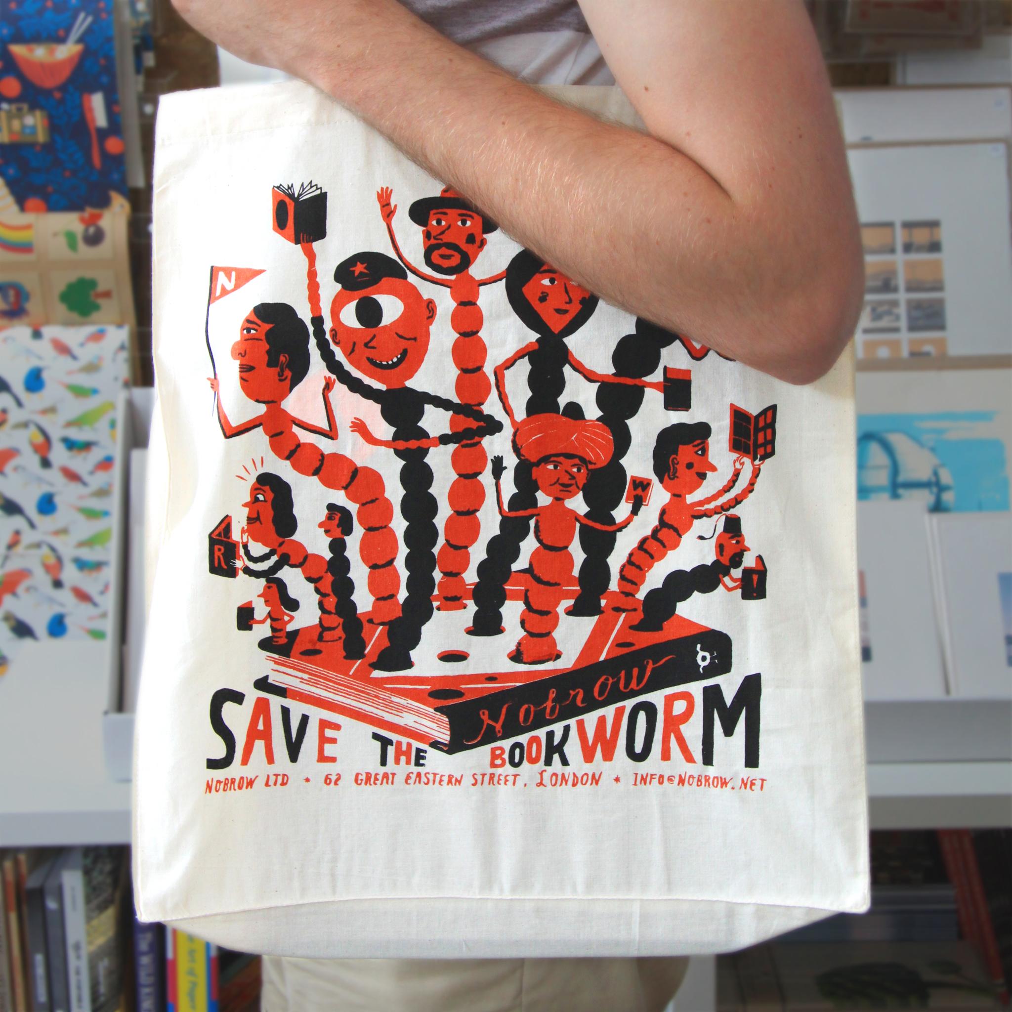 Bjorn Rune Lie screen printed tote bag
