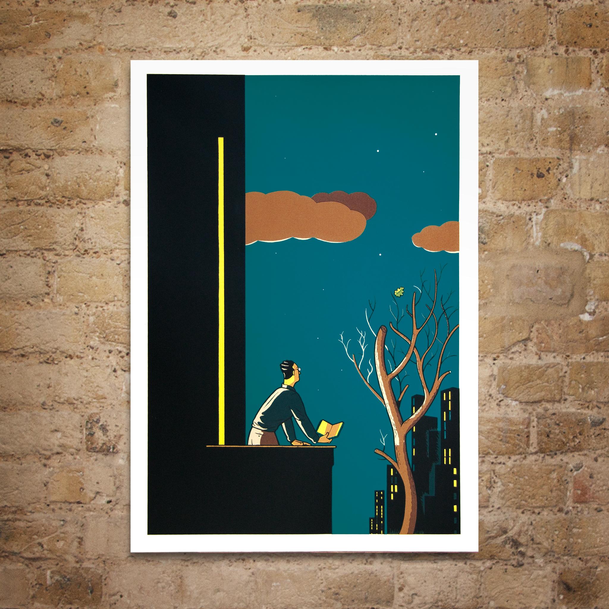 City Lights Print by Jan Van Der Veken