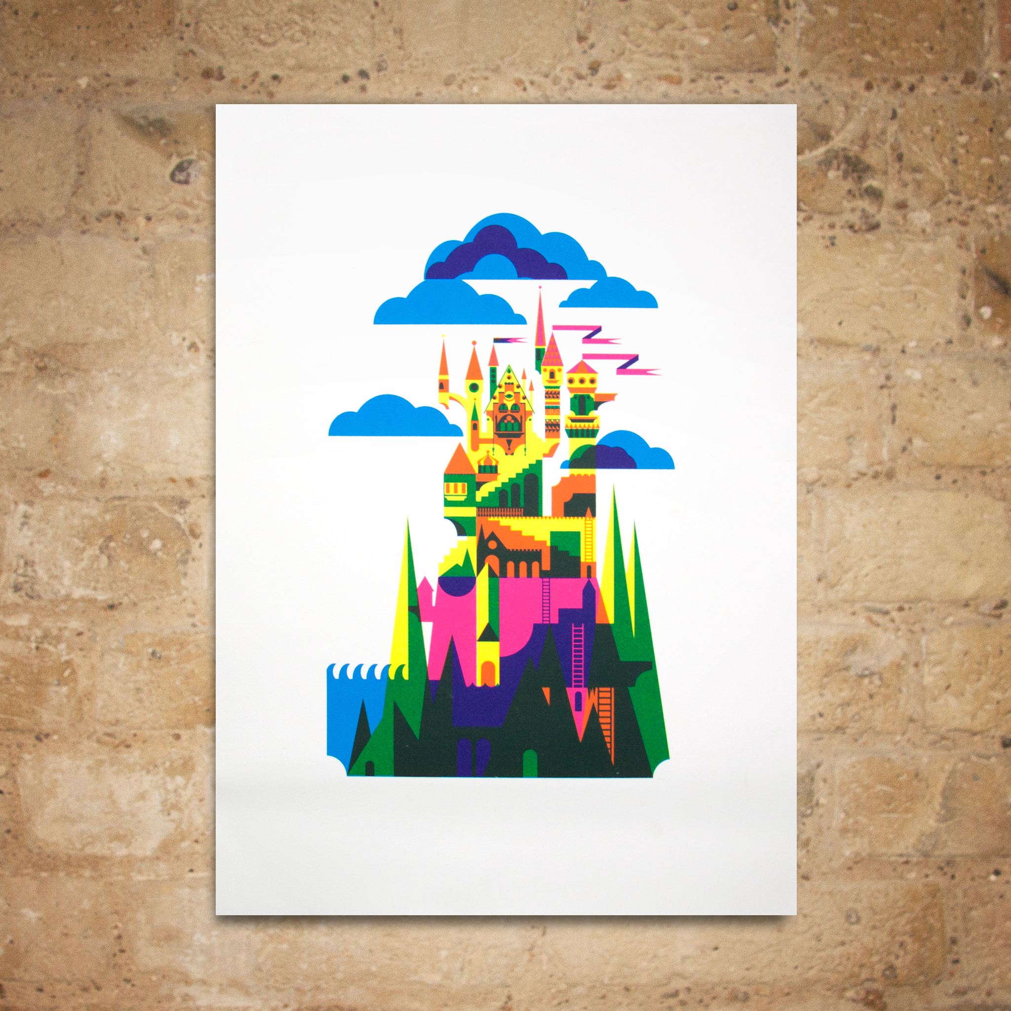 Castle Print by Patrick Hruby