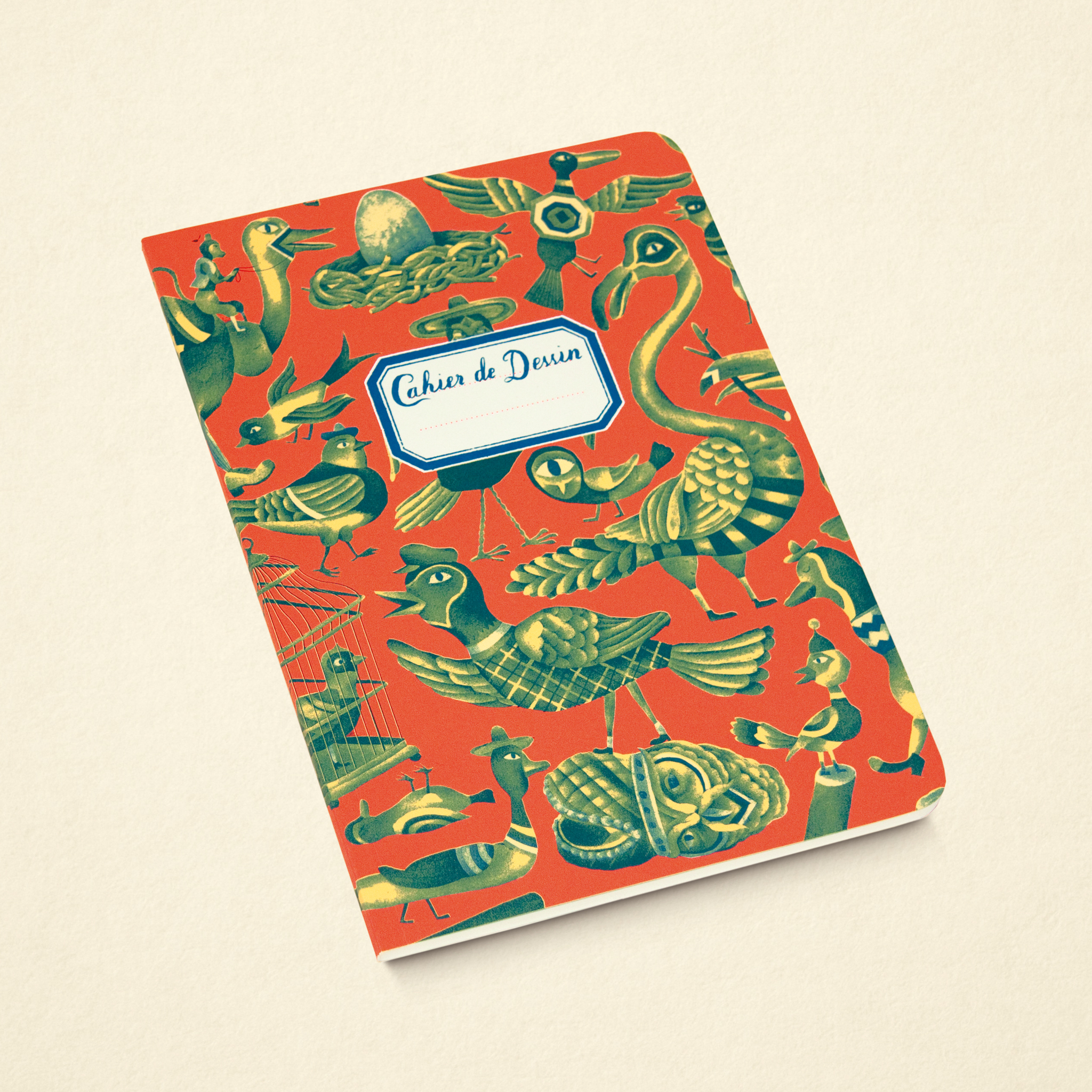 Sketchbook – Birds Red (Small)