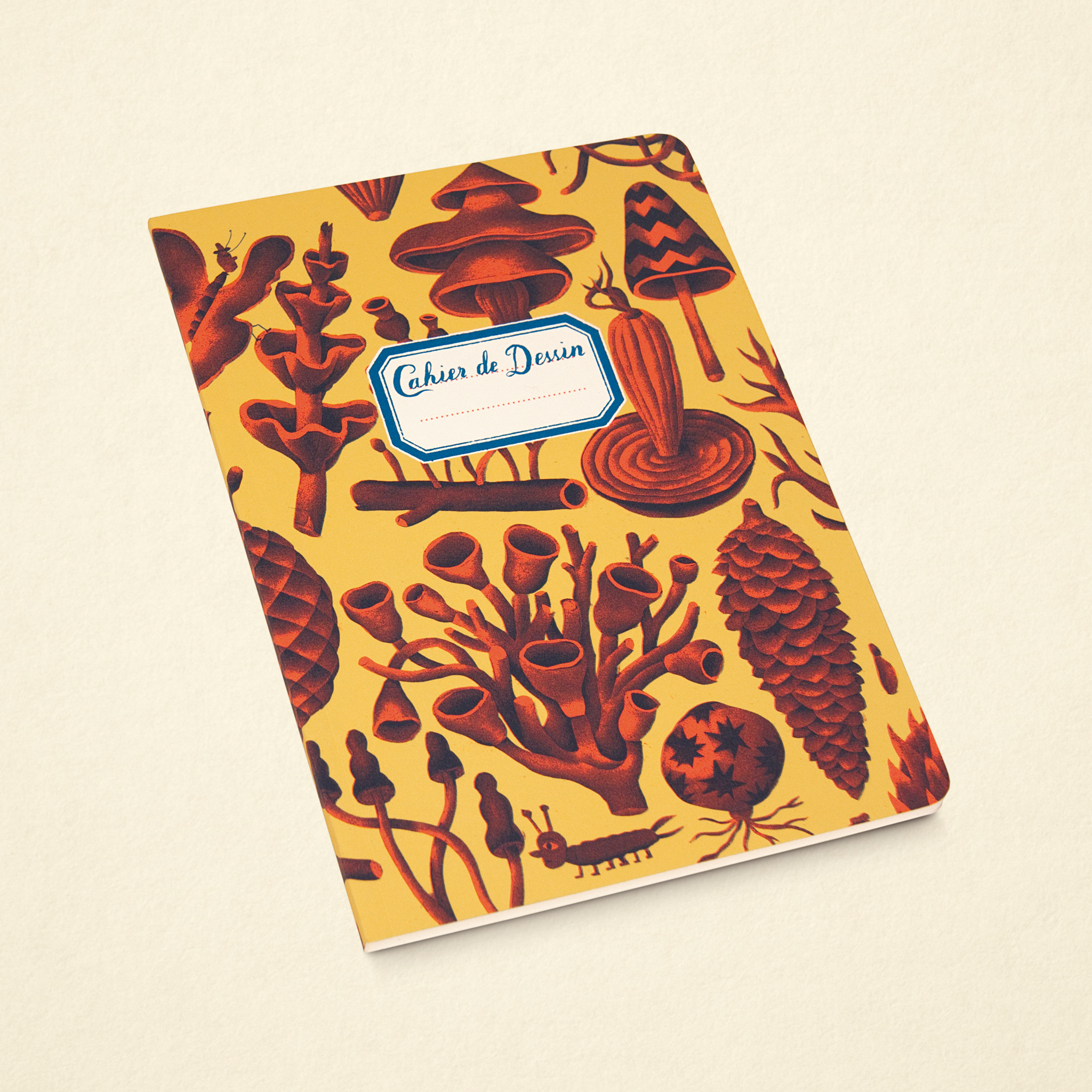 Sketchbook – Mushrooms Yellow (Small)