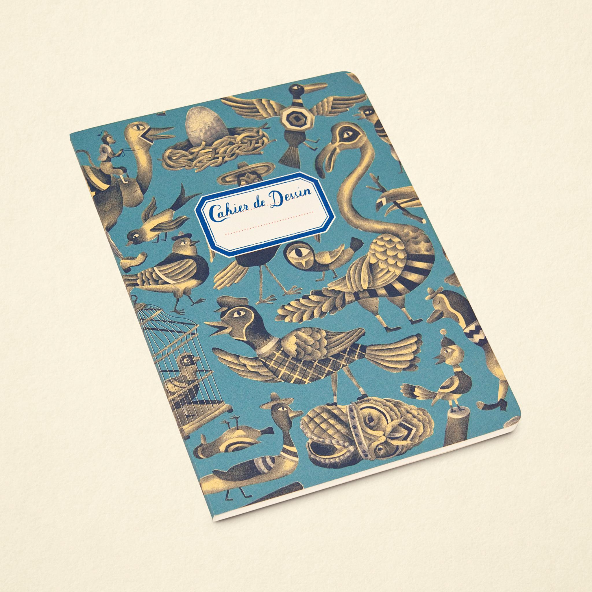 Sketchbook – Birds Blue (Large)