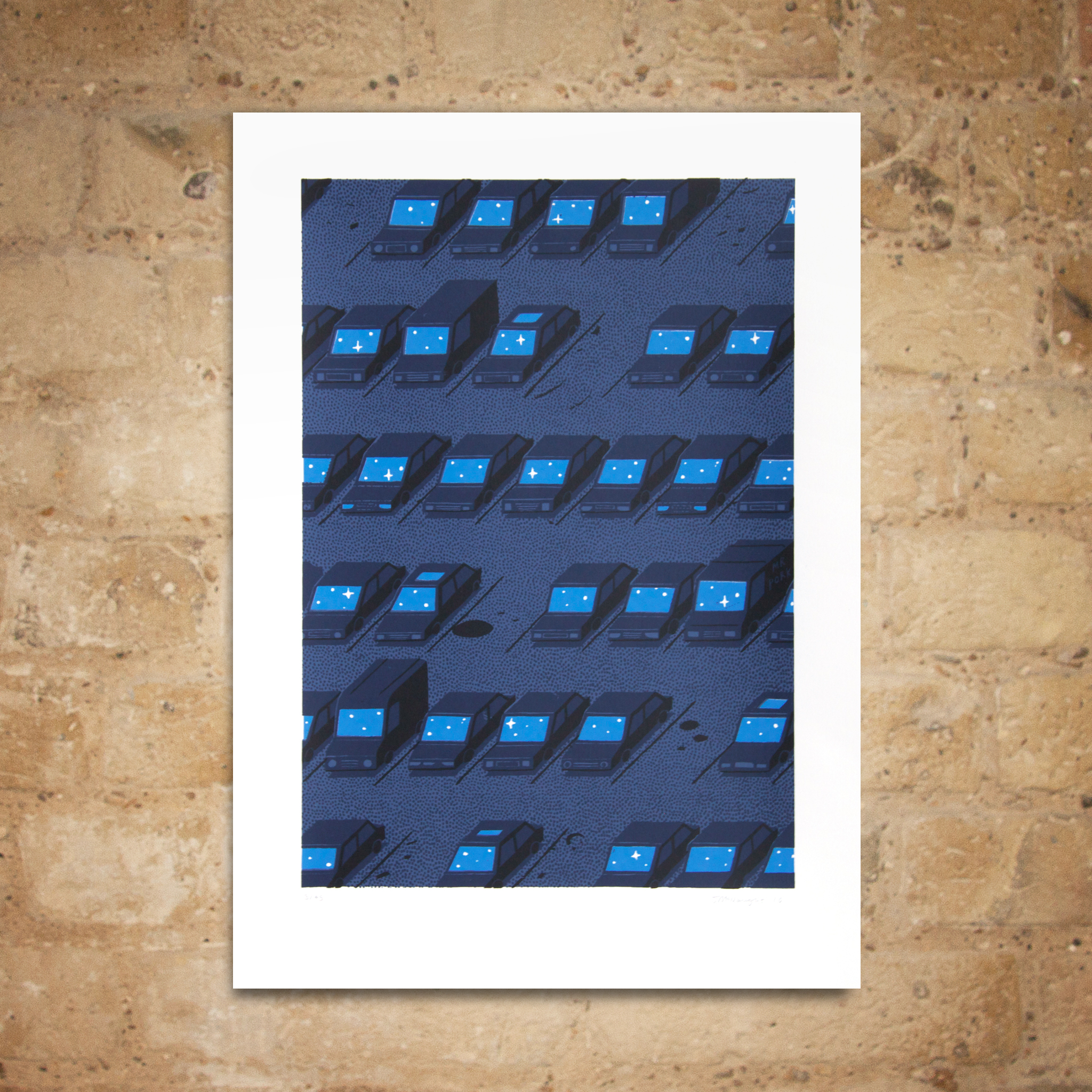 Car Park Print by Jon McNaught