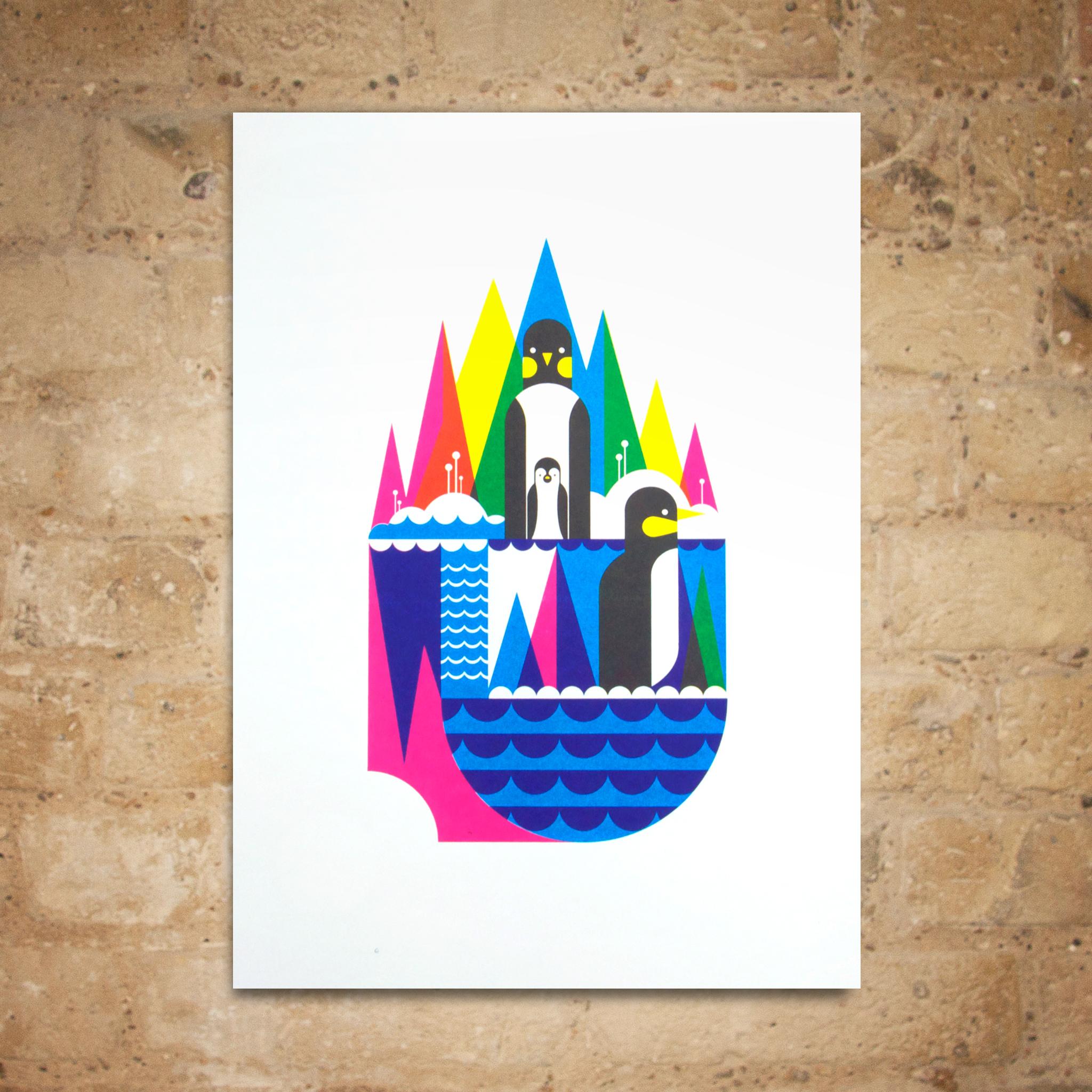 Penguins Print by Patrick Hruby