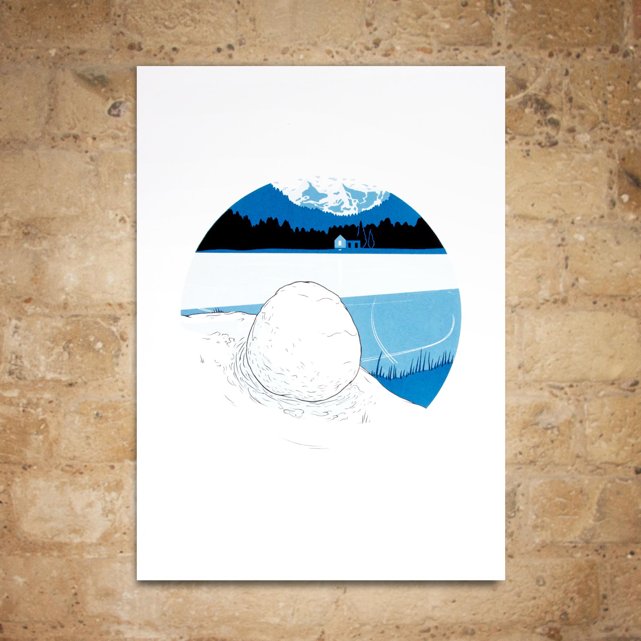 Snowball Print by Robert Fresson