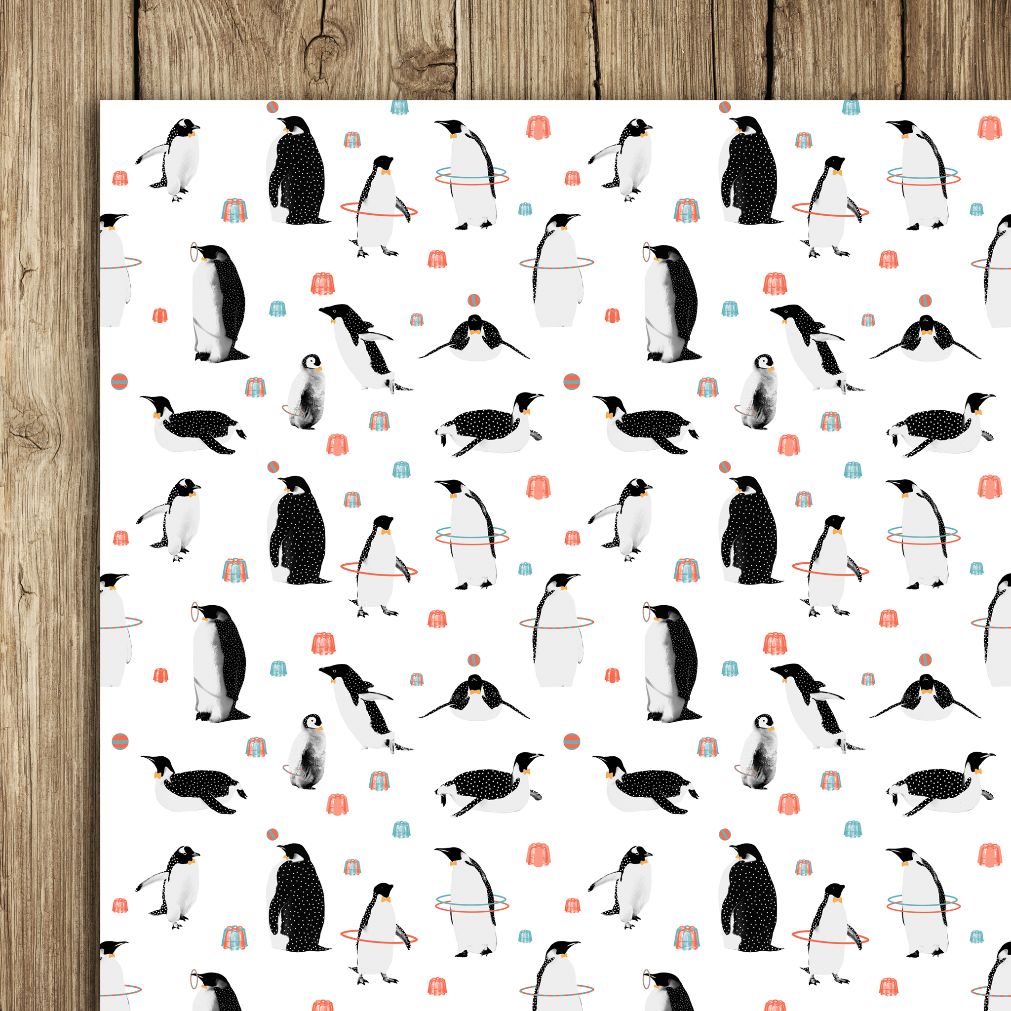 Penguins and Jelly Wrap (5 sheets)