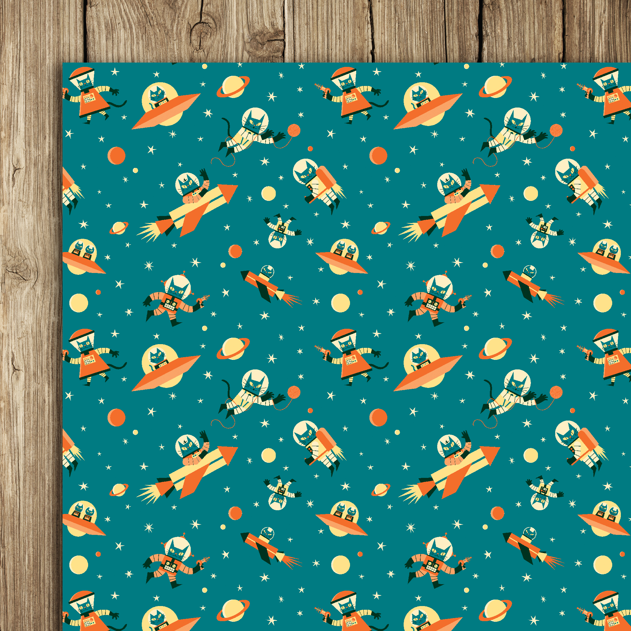 Astro Cat Wrap (5 sheets)