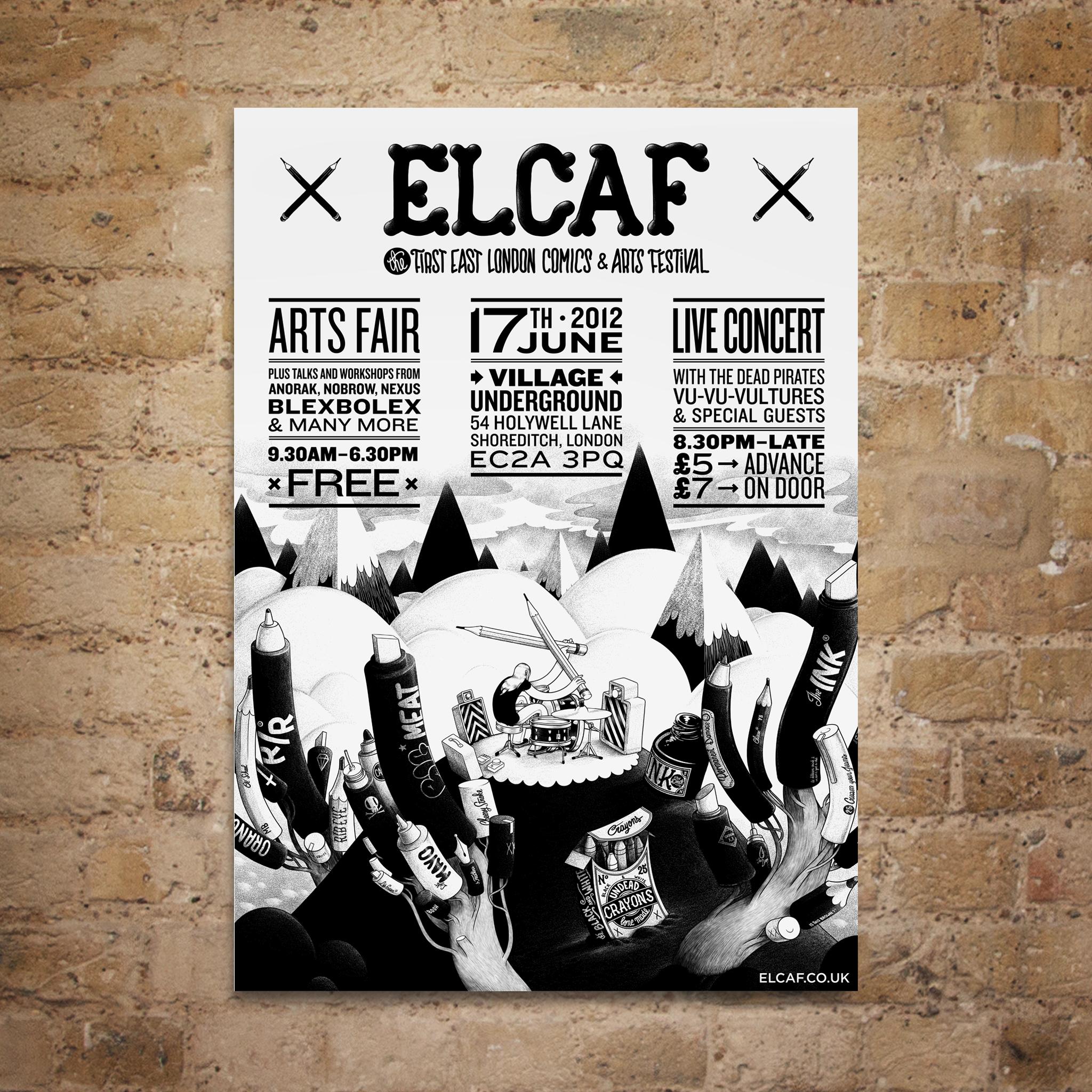 ELCAF McBess Litho Poster