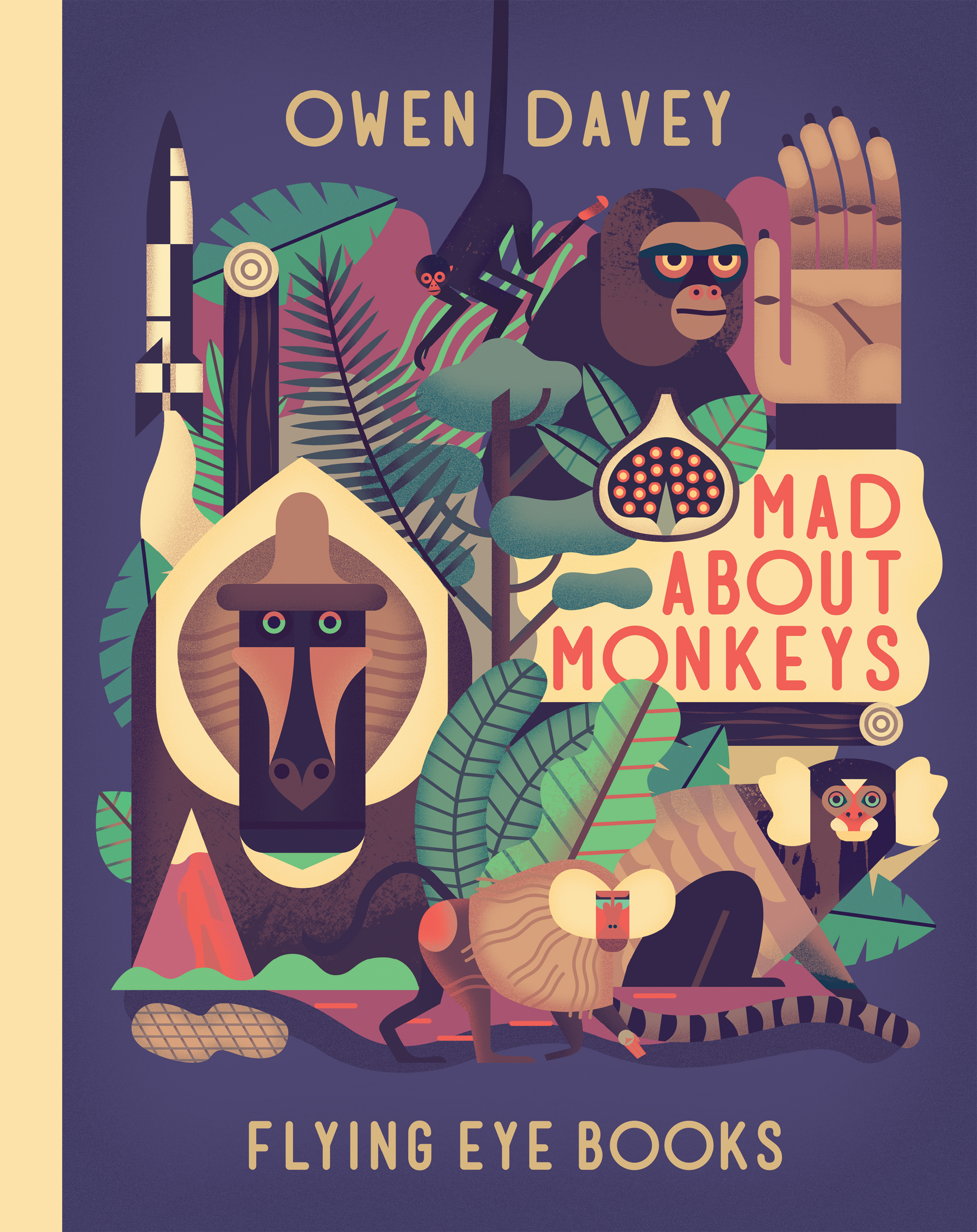 Illustrated Children S Book Covers ~ Nobrow press mad about monkeys