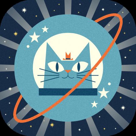 App-Icon (rounded) - Professor-Astro-Cat's-Solar-System - Minilab-Studios