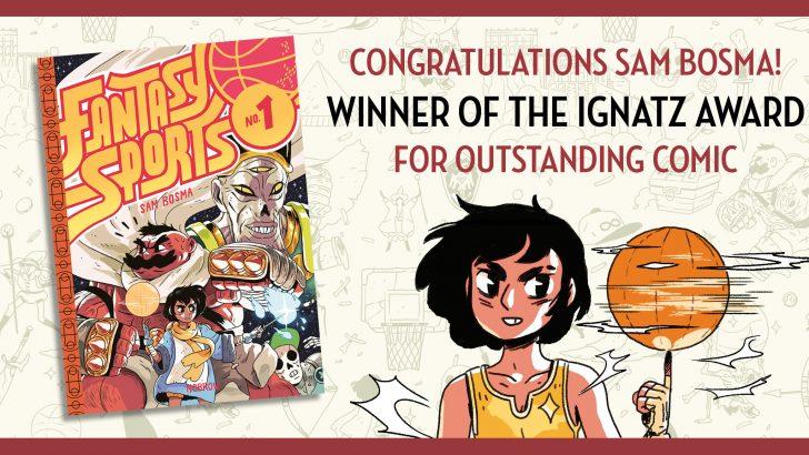 Fantasy Sports Wins an Ignatz Award!